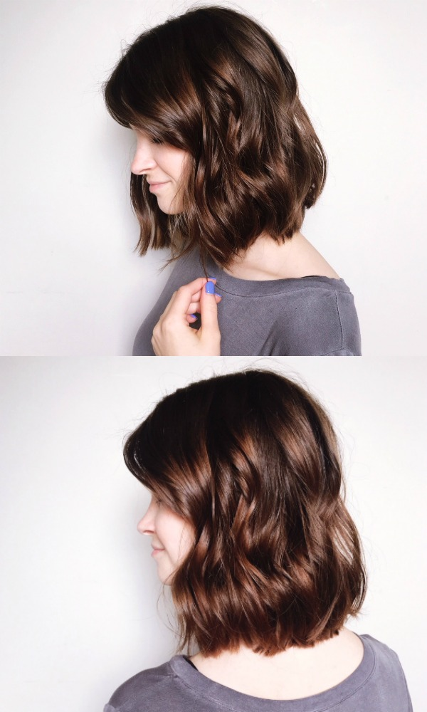 how to style a messy bob