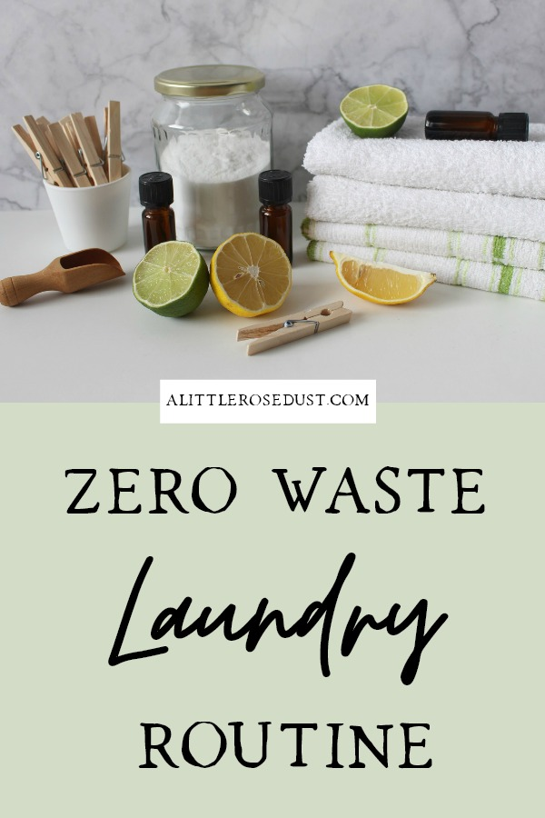 zero waste laundry routine