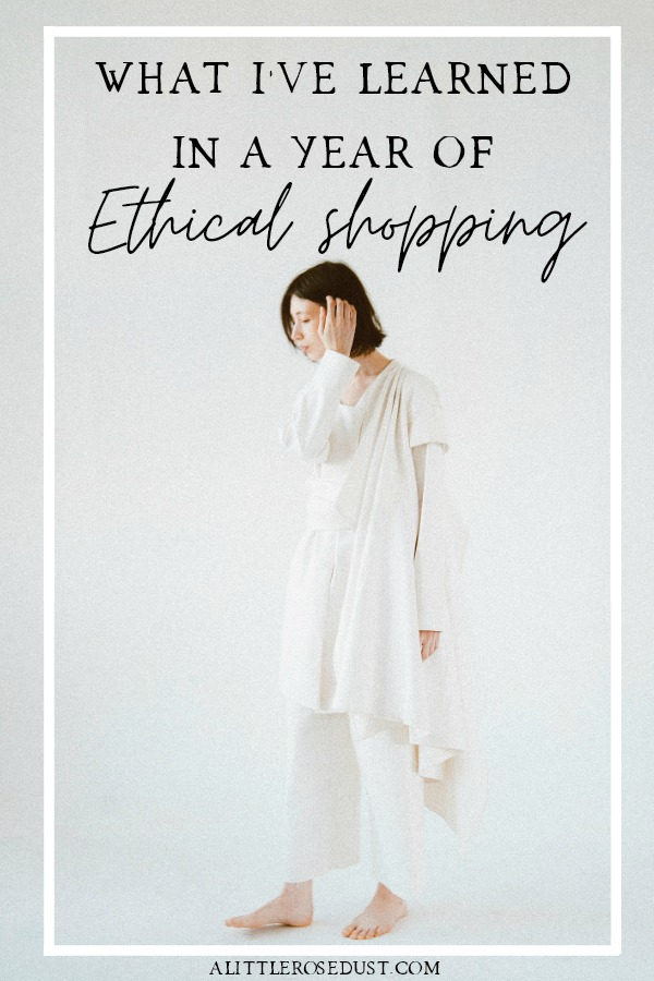 what I learned in a year of  ethical shopping