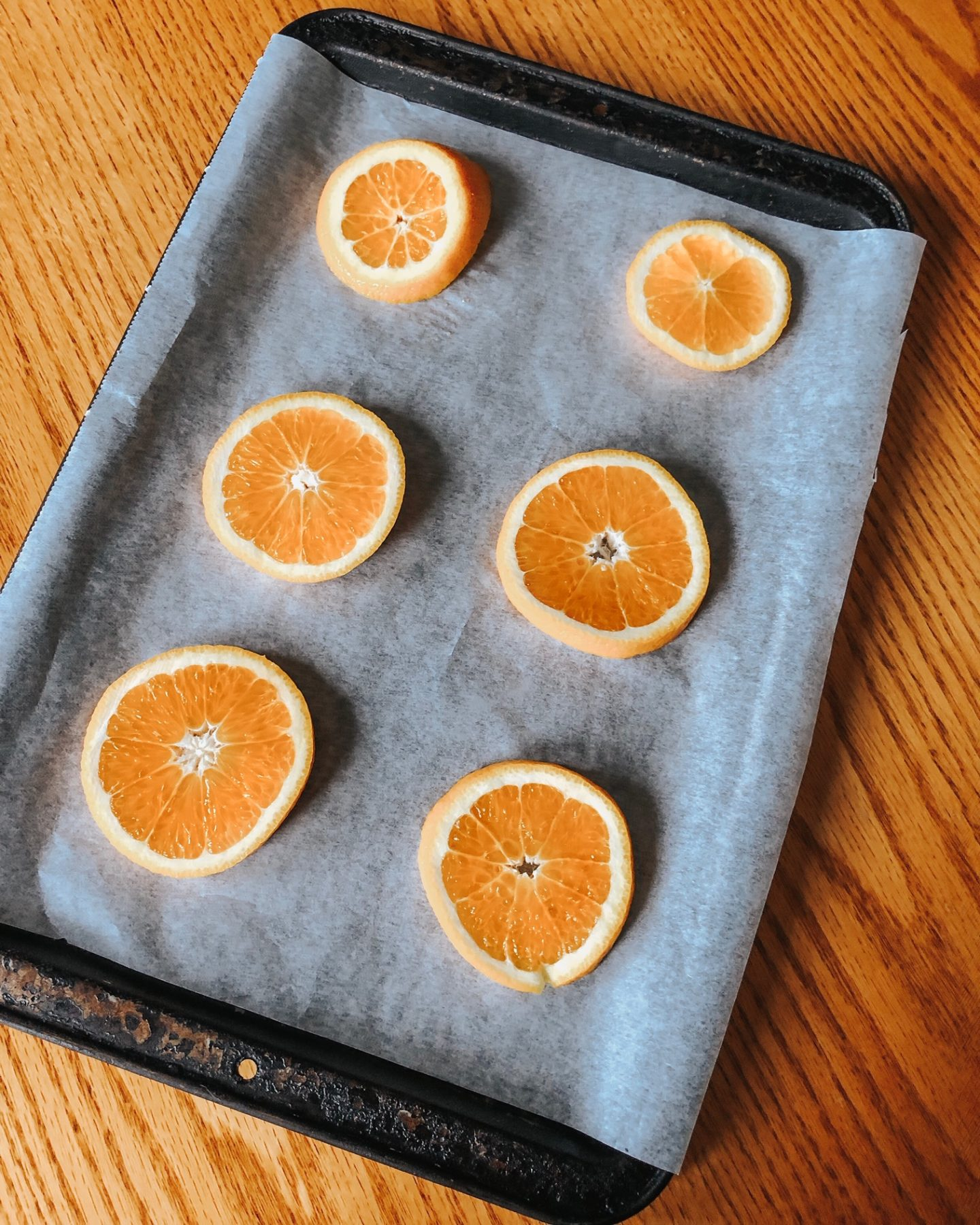 how to make dried orange slices