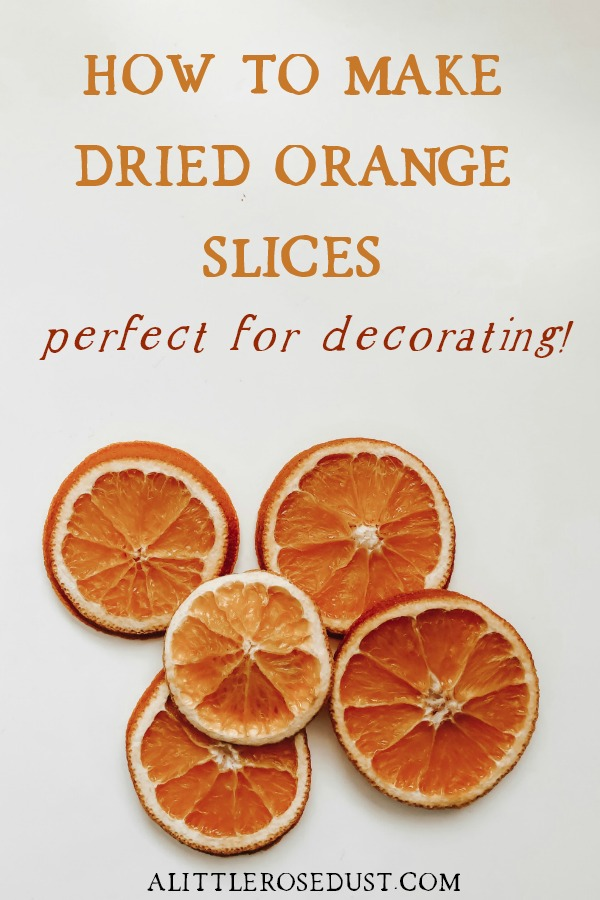 how to make dried range slices