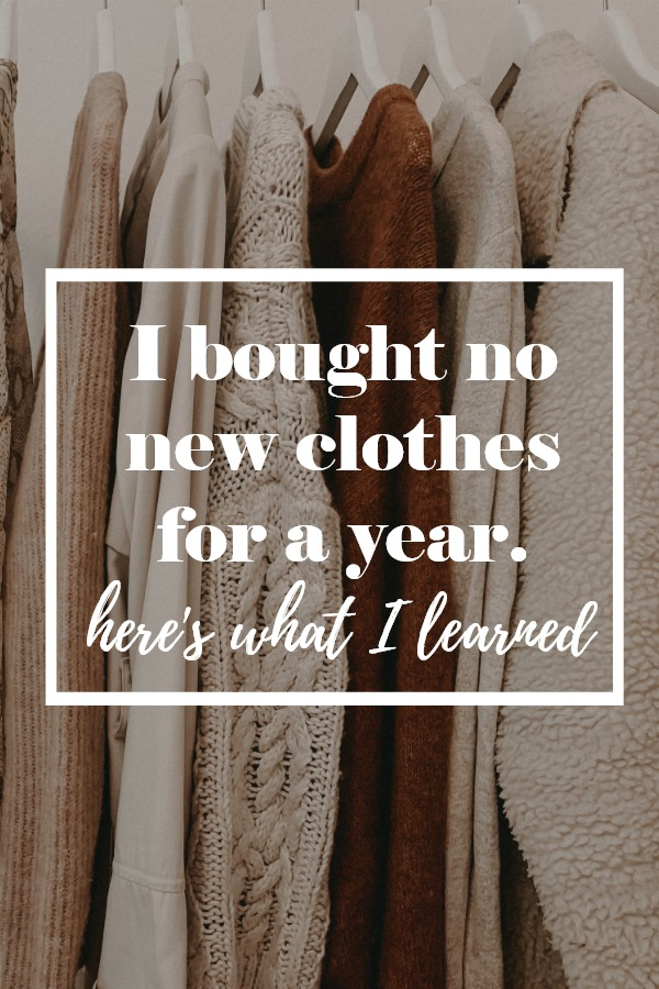 i bought no new clothes for a year