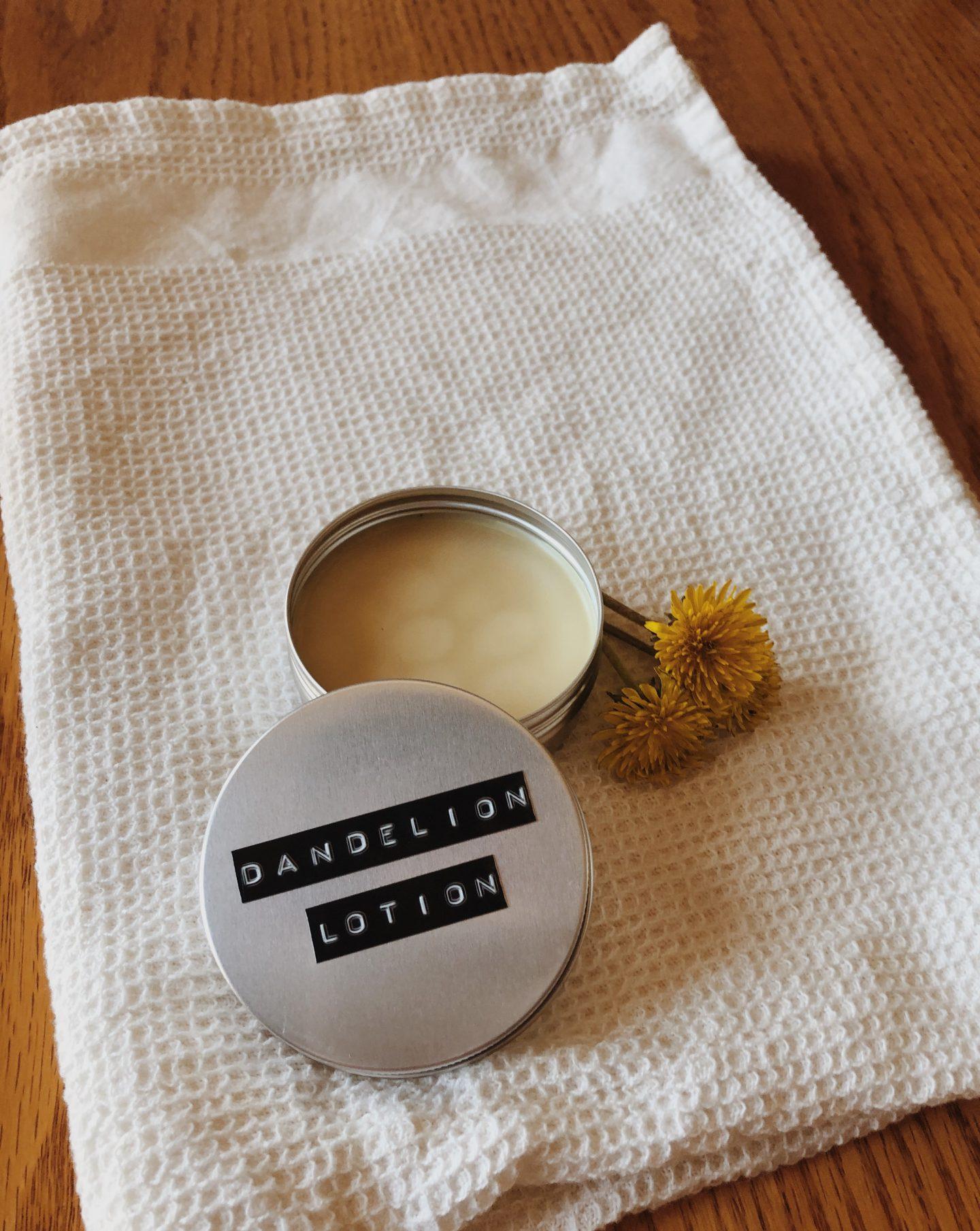 DIY dandelion lotion