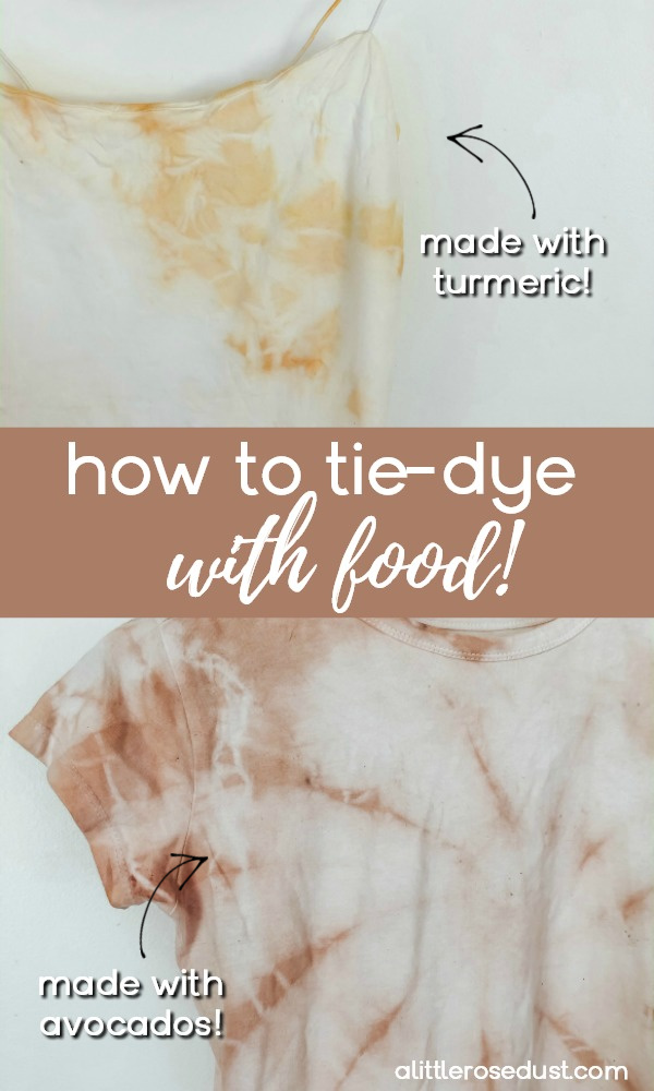how to naturally dye clothing with food