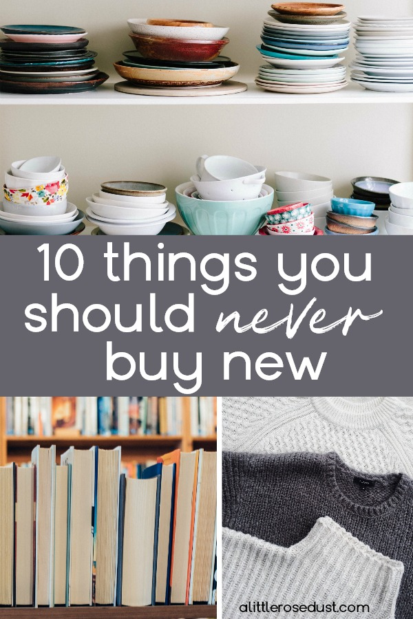 things you should never buy new
