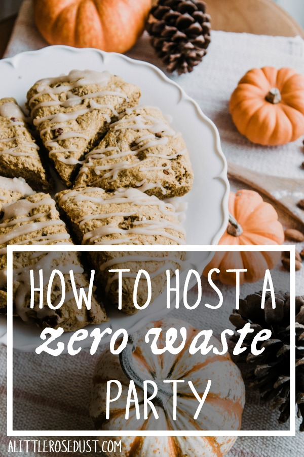 how to host a low waste party