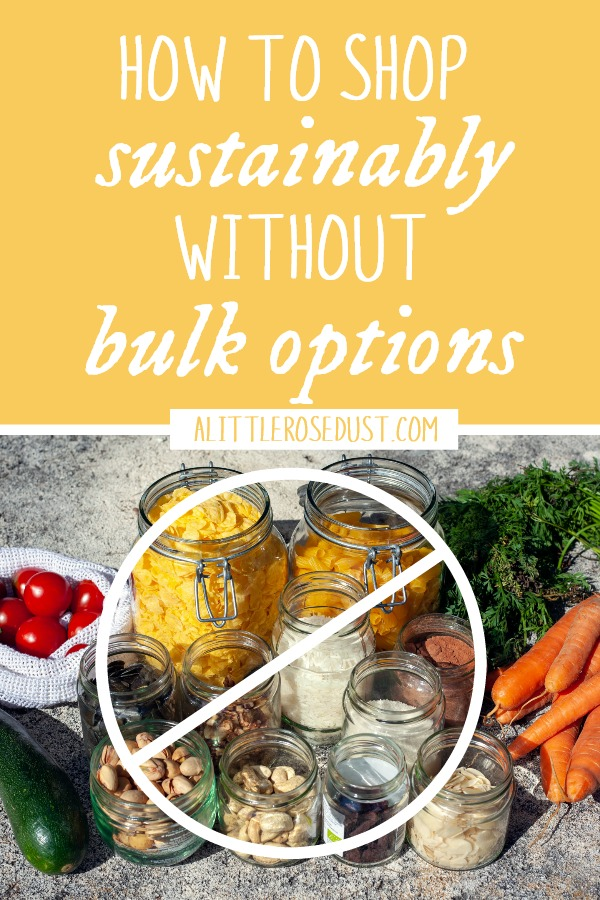 how to shop sustainably without bulk options