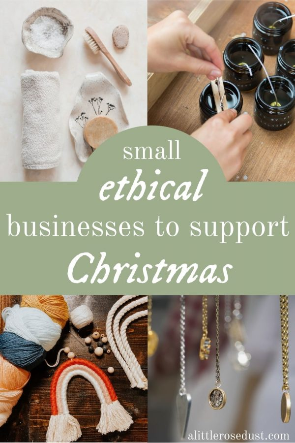 small ethical businesses to support this Christmas