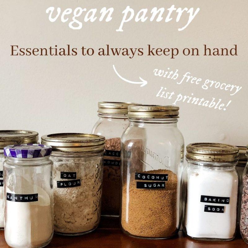 stoking a vegan pantry