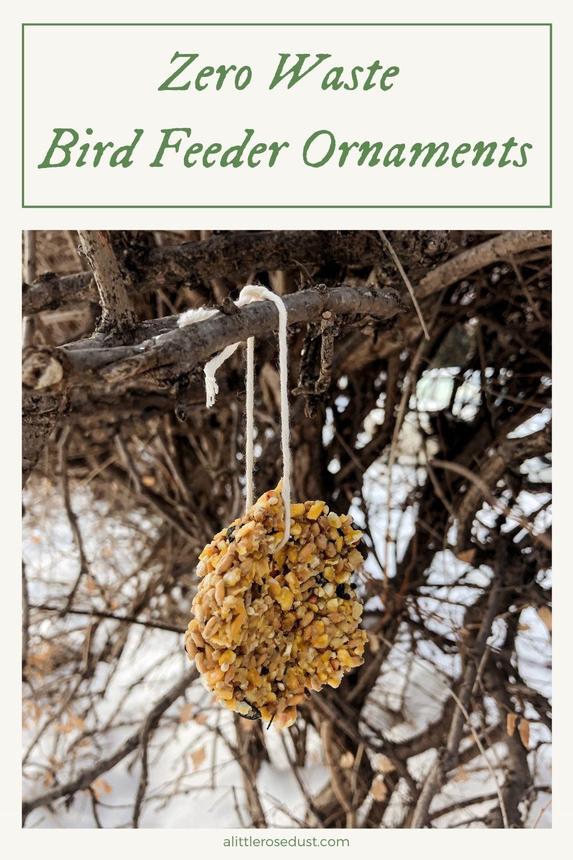 zero waste bird feeder ornaments